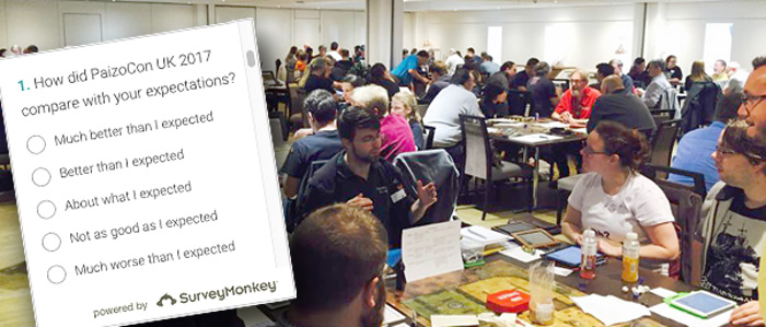 PaizoCon UK 2017 survey